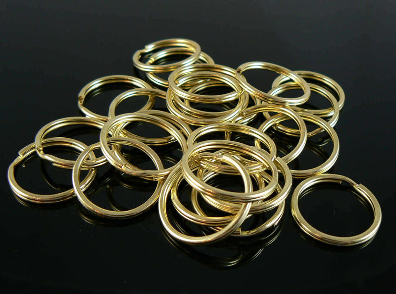 24mm nickel plated OR gold plated split ring/ key ring/ key chain rings, 25 pcs.