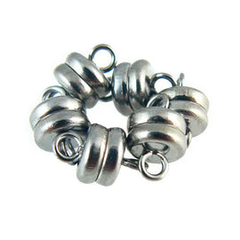 SUPER STRONG 7x6 mm silver, gold, or copper plated, or black oxide magnetic clasps, 6 or 12 clasps