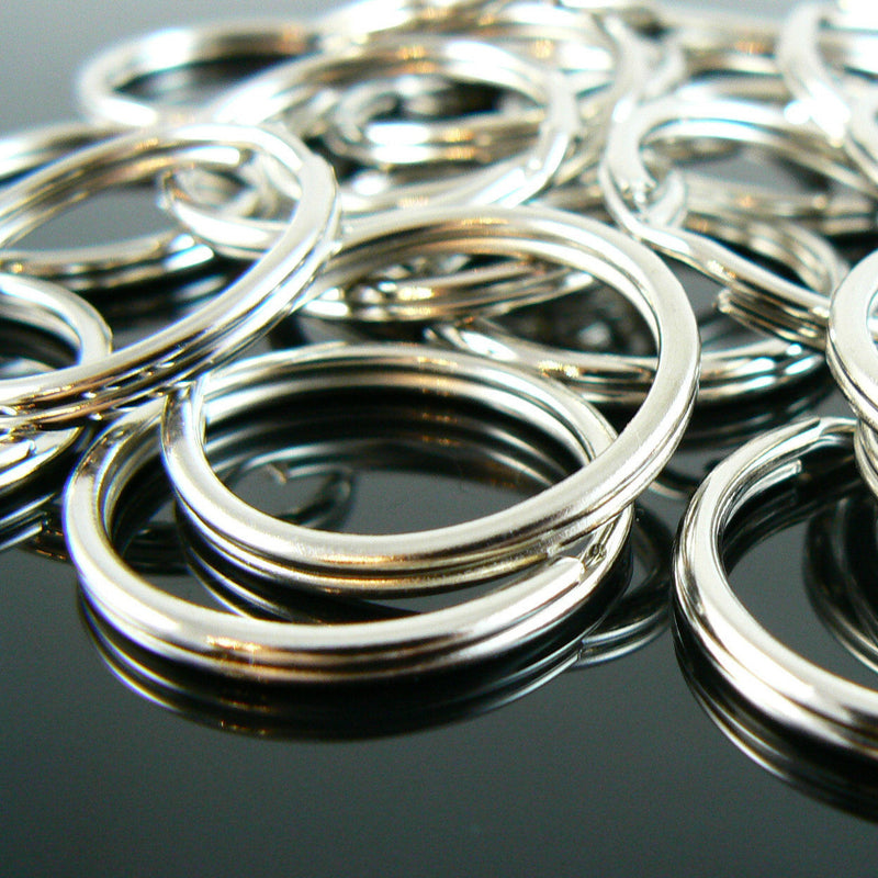24mm nickel OR gold plated split ring/ key ring/ key chain rings, 100 pcs.