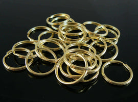 24mm nickel plated OR gold plated split ring/ key ring/ key chain rings, 50 pcs