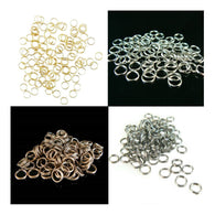 6mm gold or nickel plated, antiqued copper, or black oxide split ring/ key ring, 1,000 pcs