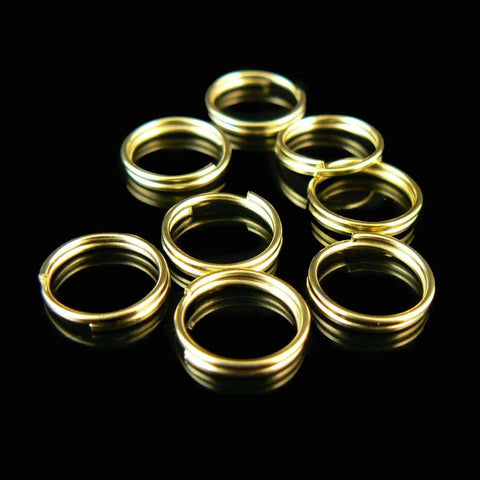 9mm gold or nickel plated split ring/ key ring/ key chain ring, 50 or 100 pcs.
