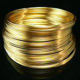 2 inch gold plated stainless steel bracelet memory wire, 1 oz.
