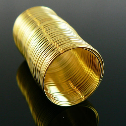 0.75 inch gold plated stainless steel RING memory wire, 48 loops