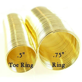 "0.75"" gold plated stainless steel RING memory wire, 48 loops"