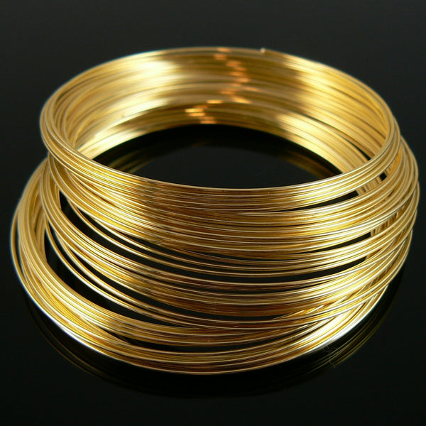 2.25 inch gold plated stainless steel bracelet memory wire, 12 loops