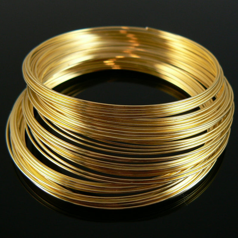 12 loops 2.25 gold plated stainless steel bracelet memory wire