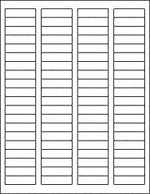"1.75""x.5"" matte white blank printable return address labels w/ REMOVABLE adhesive, 10 sheets"
