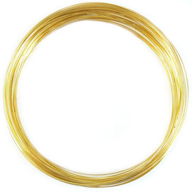 "approx. 190 loops 1 oz. 0.75/"" gold plated stainless steel RING memory wire"