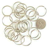 24mm gold or nickel plated split ring/ key ring/ key chain rings, 500 pcs WHOLESALE