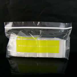 "1.5"" x 1.5"" zip top re-closable storage bags, 2 mil thick, 100 pcs"