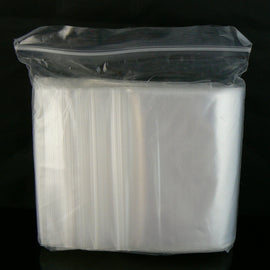 "4"" x 4"" zip top reclosable storage bags, 2 mil thick, 100 pcs"
