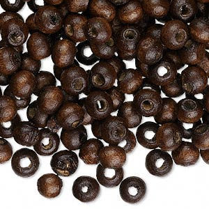 6mm x 5mm dark brown wood round rondelle beads, 500 pcs.