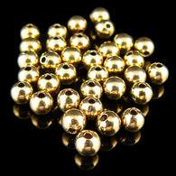 4mm gold plated brass smooth round beads, 50 pieces