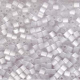 Size 6/0 silk eggshell Dyna-Mites glass seed beads, 20 grams, approximately 340 beads.