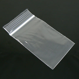 "2"" x 3"" zip top reclosable storage bags, 2 mil thick, 100 pcs"