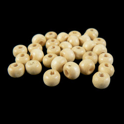 6mm x 5mm natural wood round rondelle beads, 450- 500 pcs.