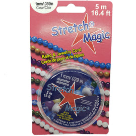 1mm Stretch Magic clear bead and jewelry cord, 5 meter spool