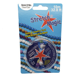 0.5 mm Stretch Magic clear bead and jewelry cord, 10 meter spool