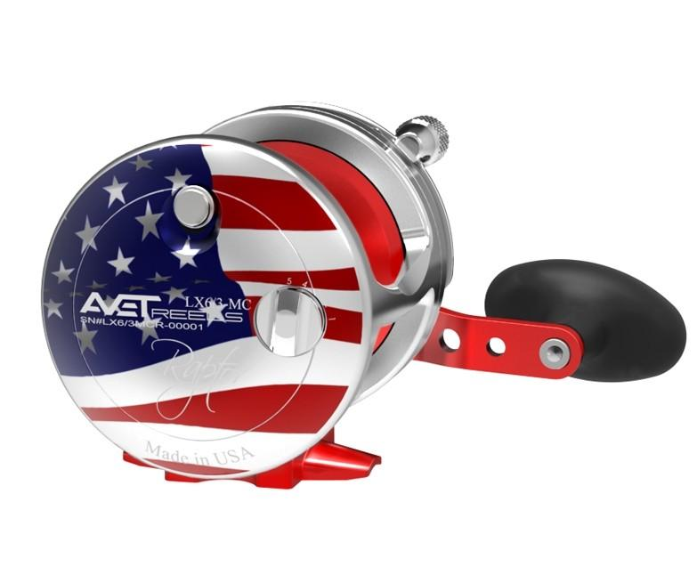 AVET LX 6/3 MC RAPTOR LEVER DRAG CASTING REEL lever drag Avet Right Hand PATRIOT