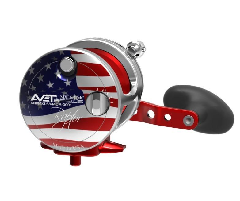 AVET MXL 6/4 RAPTOR LEVER DRAG CASTING REEL lever drag Avet Right Hand PATRIOT