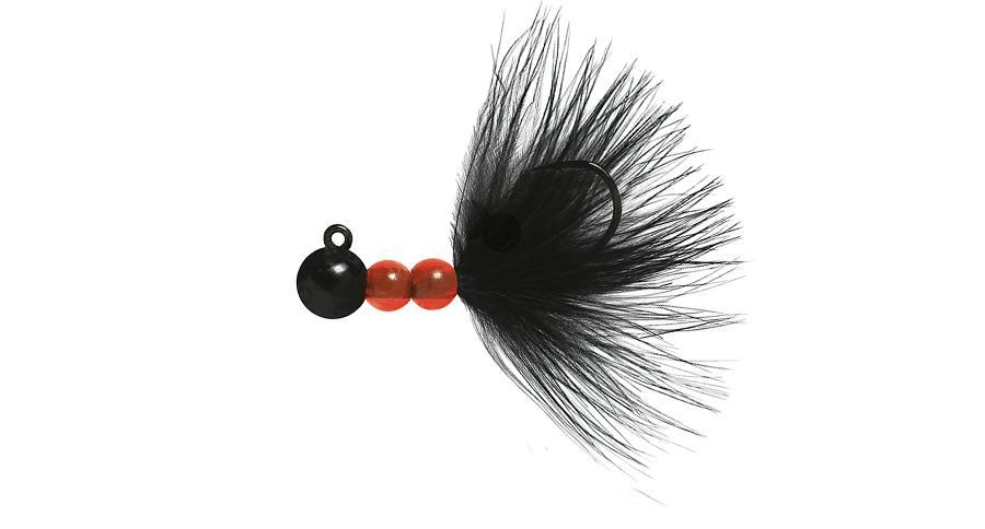 Beau Mac SMJ Bead Jigs Salmon & Steelhead Jigs Hawken Fishing Black, Black 1/8