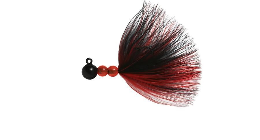 Beau Mac SMJ Bead Jigs Salmon & Steelhead Jigs Hawken Fishing Black, Black-Red 1/64