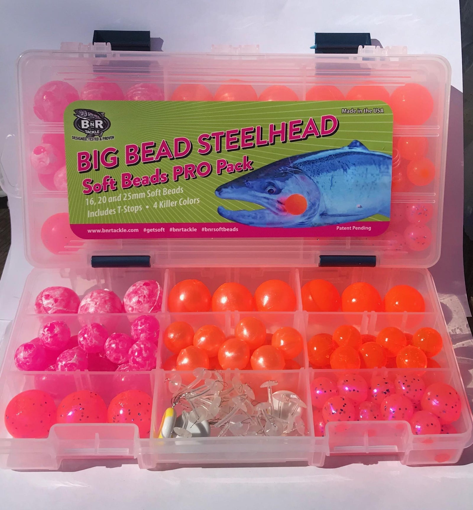 50 Pack of 8mm DEAD EGG color drift beads for trout fishing