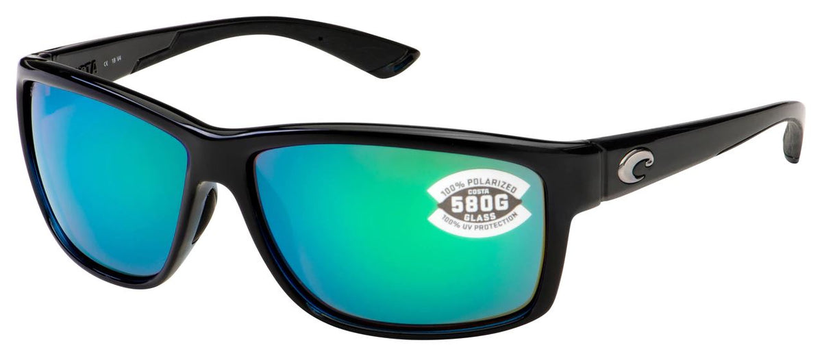 Costa Sunglasses Sunglasses Costa Mag Bay Shiny Black Green Mirror 580G