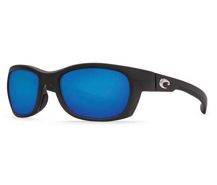 Costa Sunglasses Sunglasses Costa Trevally Matte Black Gunmetal Blue Mirror 580G