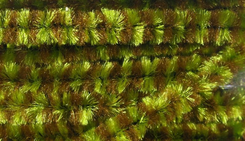 Hareline Variegated Chenille Tying Materials Hareline Olive/Brown
