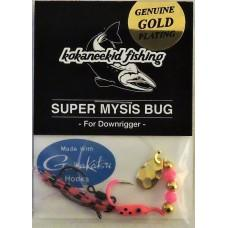 KokaneeKid Fishing Super Mysis Bug Rigs KokaneeKid Fishing Pink/Gold Blade & Gold Beads