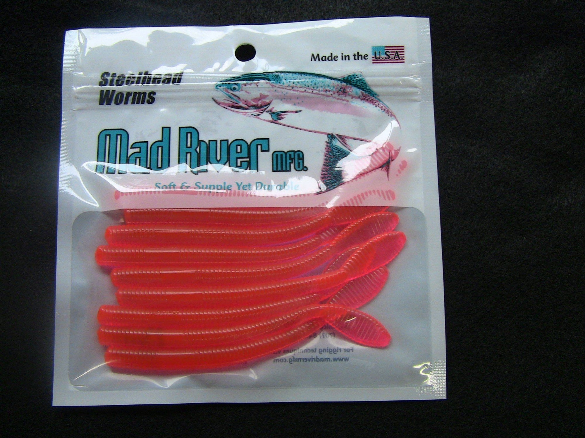 Mad River Steelhead Worms soft plastic lures Mad River Mathalonite 3 inch
