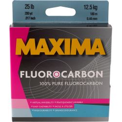 MAXIMA FLUOROCARBON FISHING LINE: ONE SHOT Fluorocarbon Line Maxima