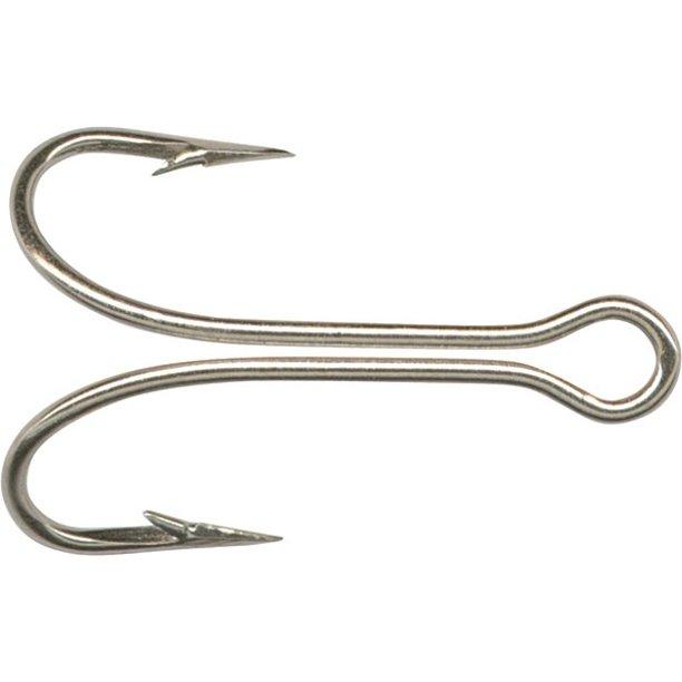 Mustad Double Hook In Nickle (100 per Pack) Fishing Hooks Mustad