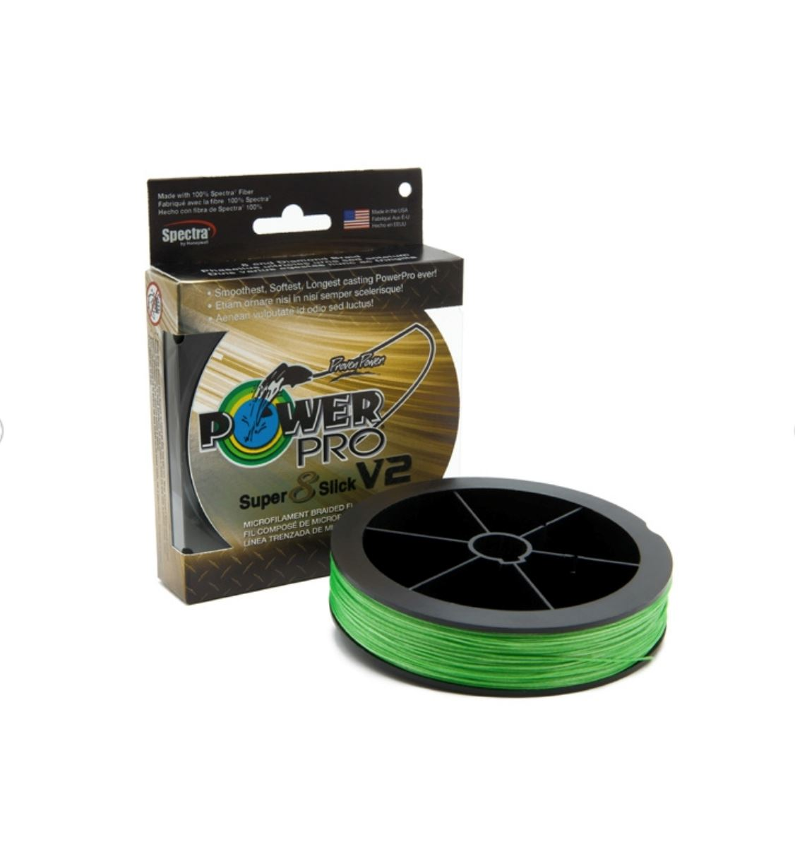 Power Pro Super 8 Slick V2 Braided Line - AQUA GREEN Braided Line Power Pro