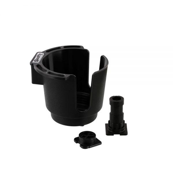 Scotty NO. 311-BK BLACK CUP HOLDER WITH BULKHEAD / GUNNEL MOUNT AND ROD HOLDER POST MOUNT Downriggers & Accessories Scotty