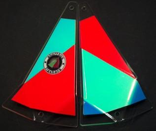 "Shortbus 5.5"" Triangle Flashers Trolling Attraction Shortbus 5.5"" Angry Dragon"