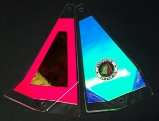 "Shortbus 5.5"" Triangle Flashers Trolling Attraction Shortbus 5.5"" Aware"