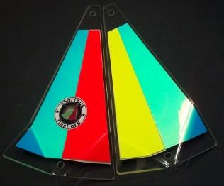 "Shortbus 5.5"" Triangle Flashers Trolling Attraction Shortbus 5.5"" Banana Split"