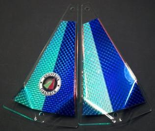 "Shortbus 5.5"" Triangle Flashers Trolling Attraction Shortbus 5.5"" Blue Hunter"