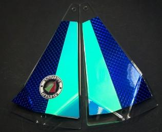 "Shortbus 5.5"" Triangle Flashers Trolling Attraction Shortbus 5.5"" Blue Moon"