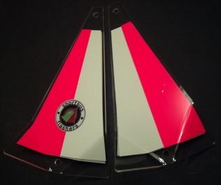 "Shortbus 5.5"" Triangle Flashers Trolling Attraction Shortbus 5.5"" Candy Striper"