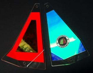 "Shortbus 5.5"" Triangle Flashers Trolling Attraction Shortbus 5.5"" Cherry Popper"