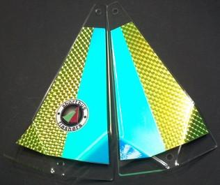 "Shortbus 5.5"" Triangle Flashers Trolling Attraction Shortbus 5.5"" Fish Hawk"