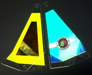 "Shortbus 5.5"" Triangle Flashers Trolling Attraction Shortbus 5.5"" Golden Shower"