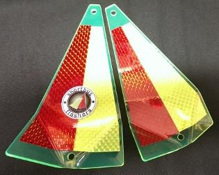 "Shortbus 5.5"" Triangle Flashers Trolling Attraction Shortbus 5.5"" GRB-Red"
