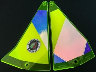 "Shortbus 5.5"" Triangle Flashers Trolling Attraction Shortbus 5.5"" Green Crush"
