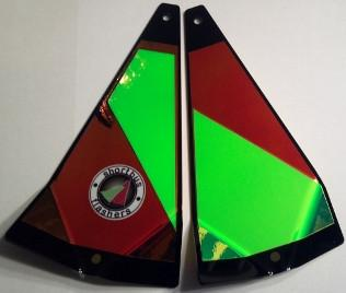 "Shortbus 5.5"" Triangle Flashers Trolling Attraction Shortbus 5.5"" Hallucinator"