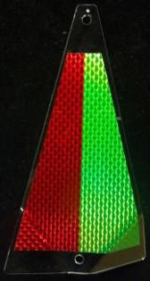 "Shortbus 5.5"" Triangle Flashers Trolling Attraction Shortbus 5.5"" Kelly Green/ Red"